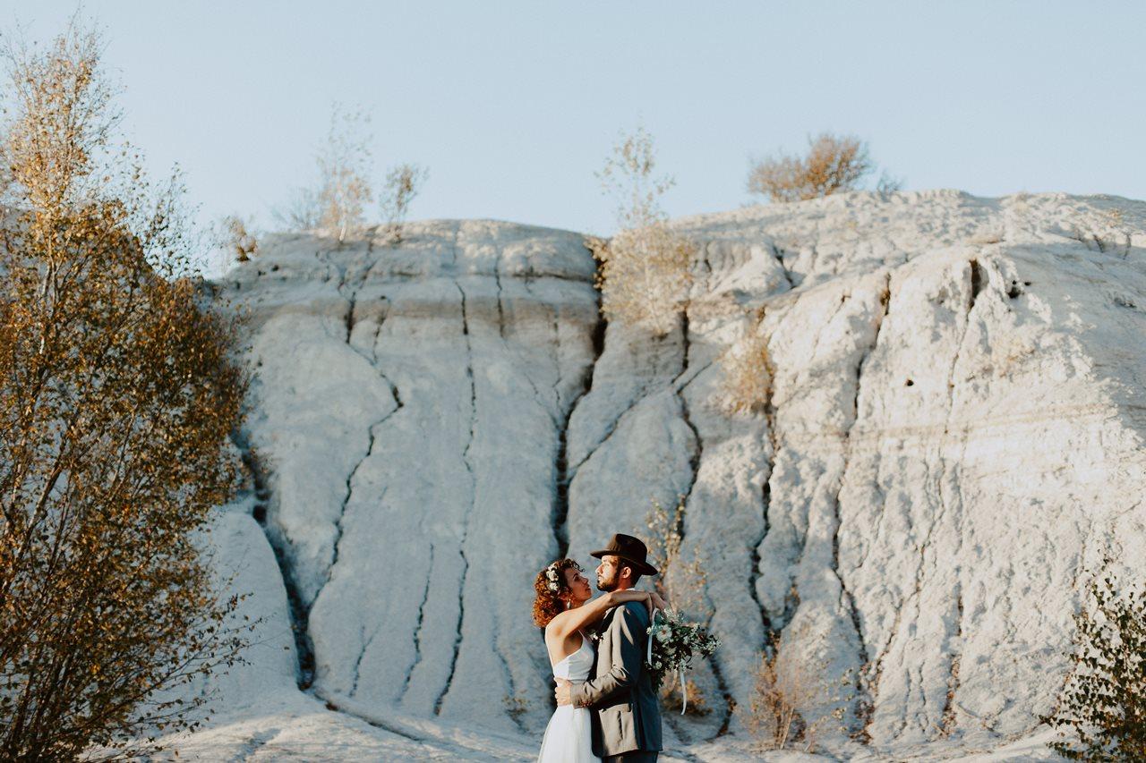 mariage nude désert séance couple portrait mariés