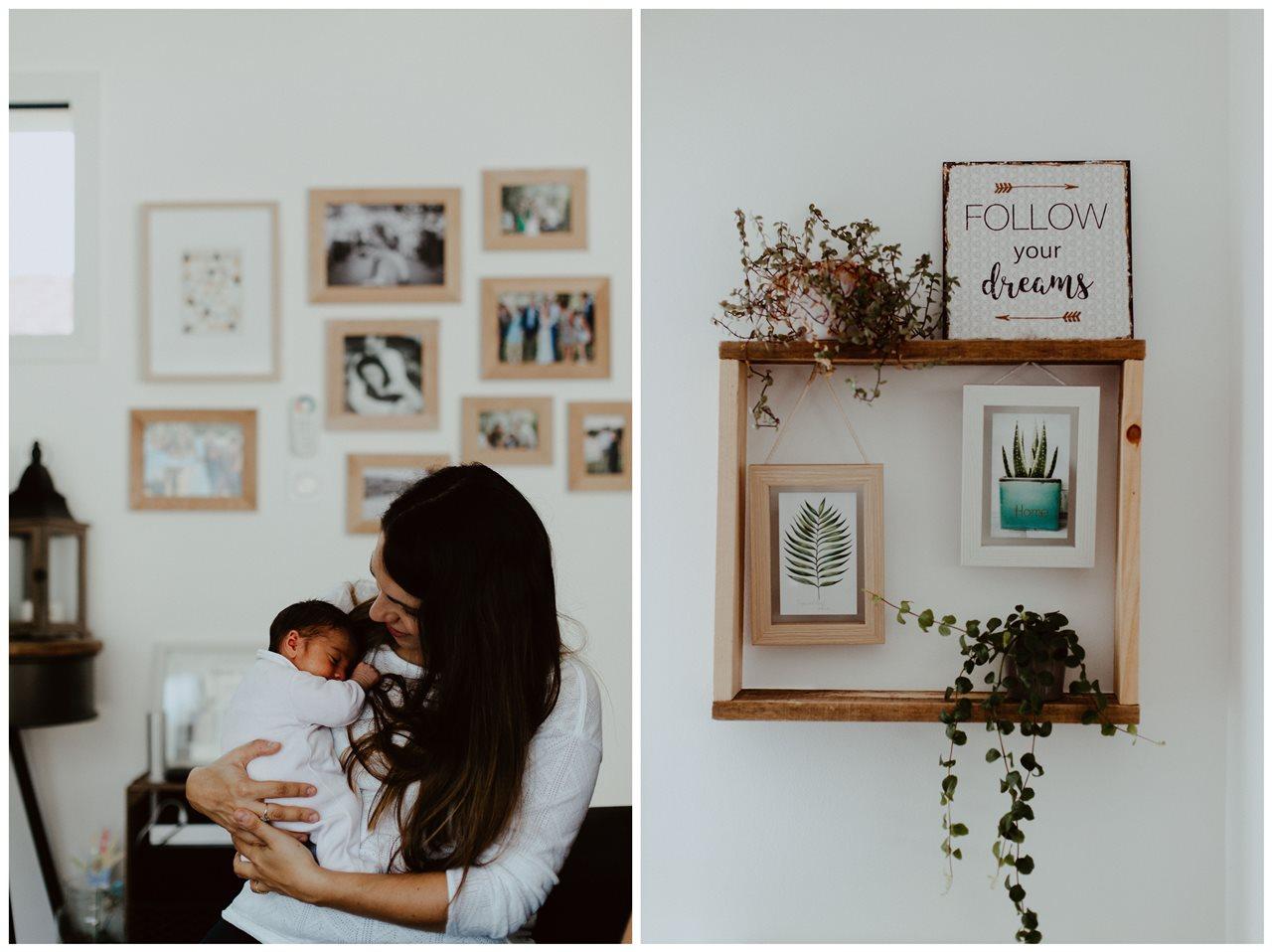 séance nouveau-né lifestyle portrait maman bébé