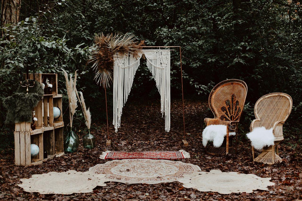 mariage boho décoration cérémonie laïque nature