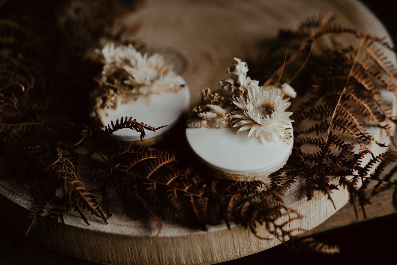 mariage bohème sablés nude fleuris Petite Douce