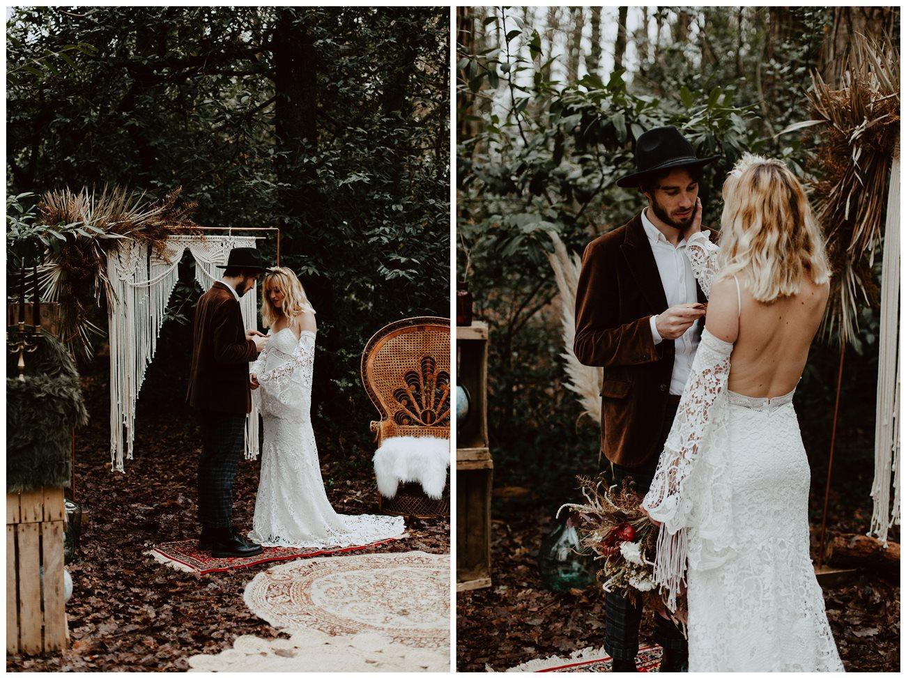 mariage bohème cérémonie laïque échanges des voeux