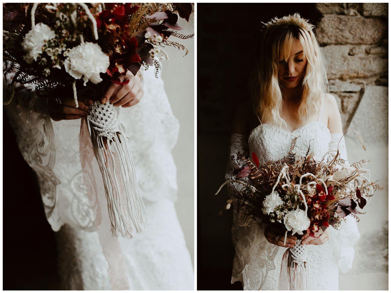 mariage bohème préparation mariée bouquet fleurs Folie Douce Flower
