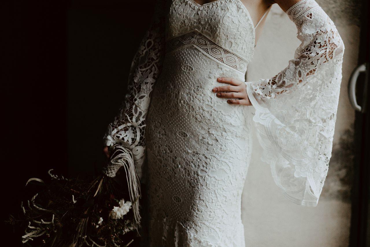 mariage bohème préparation mariée robe Kamelion