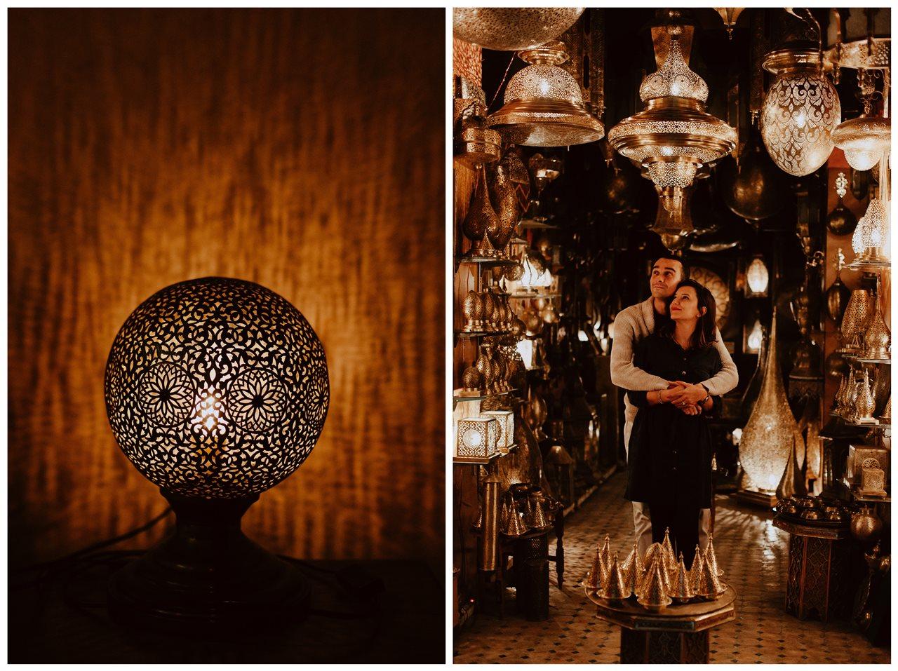séance couple fès magasin lampe marocaine