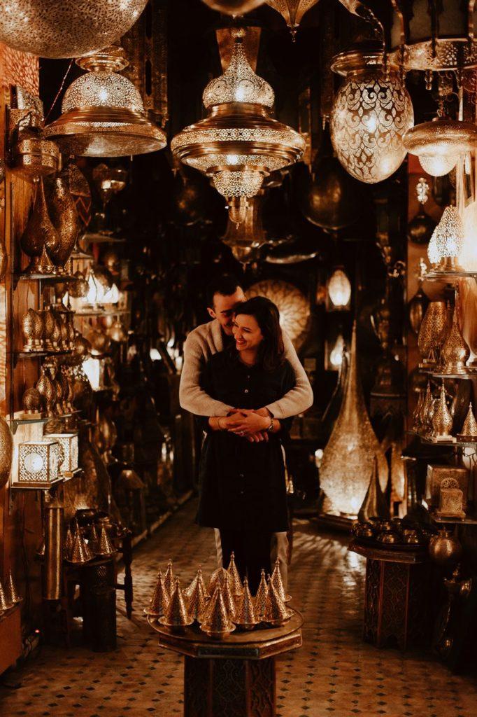 séance couple fès magasin lampe marocaine complicité mariés
