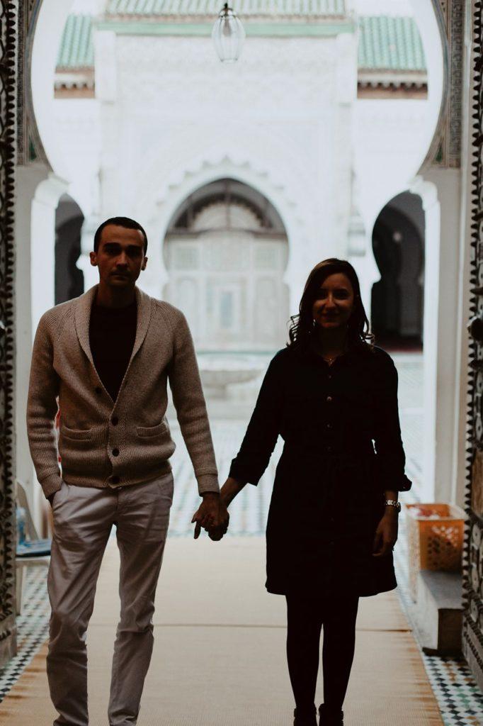 séance couple maroc portrait mariés mosquée Fès