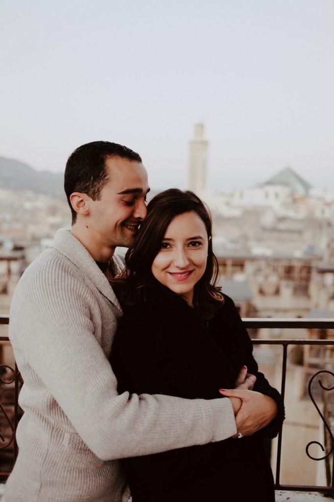 séance couple maroc toits de fès portrait mariés