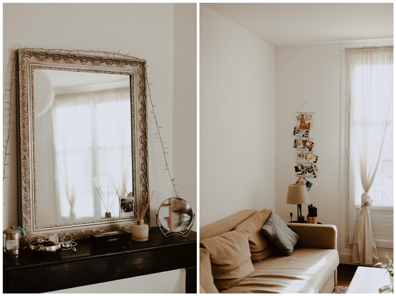séance portrait femme intimiste intérieur décoration appartement