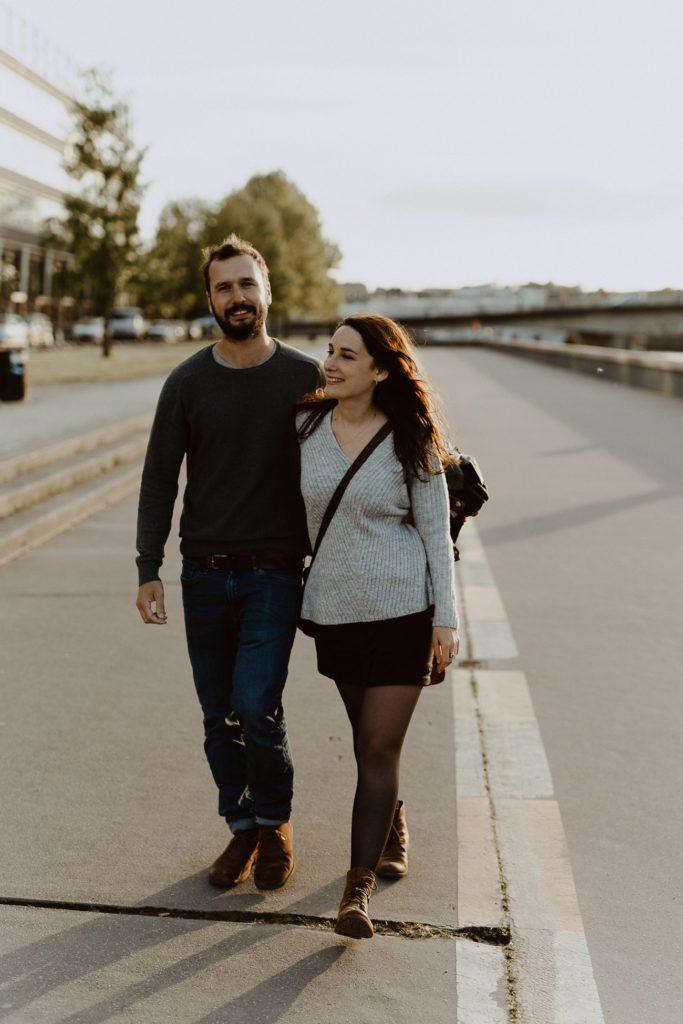 séance photo couple Nantes promenade bord de Loire
