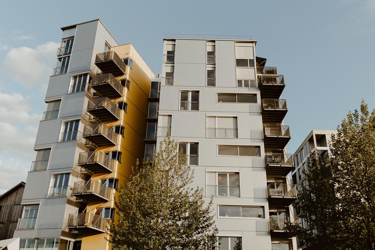 séance photo île de Nantes immeubles
