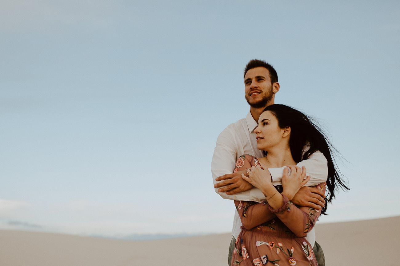 séance couple dune du Pilat calin mariés