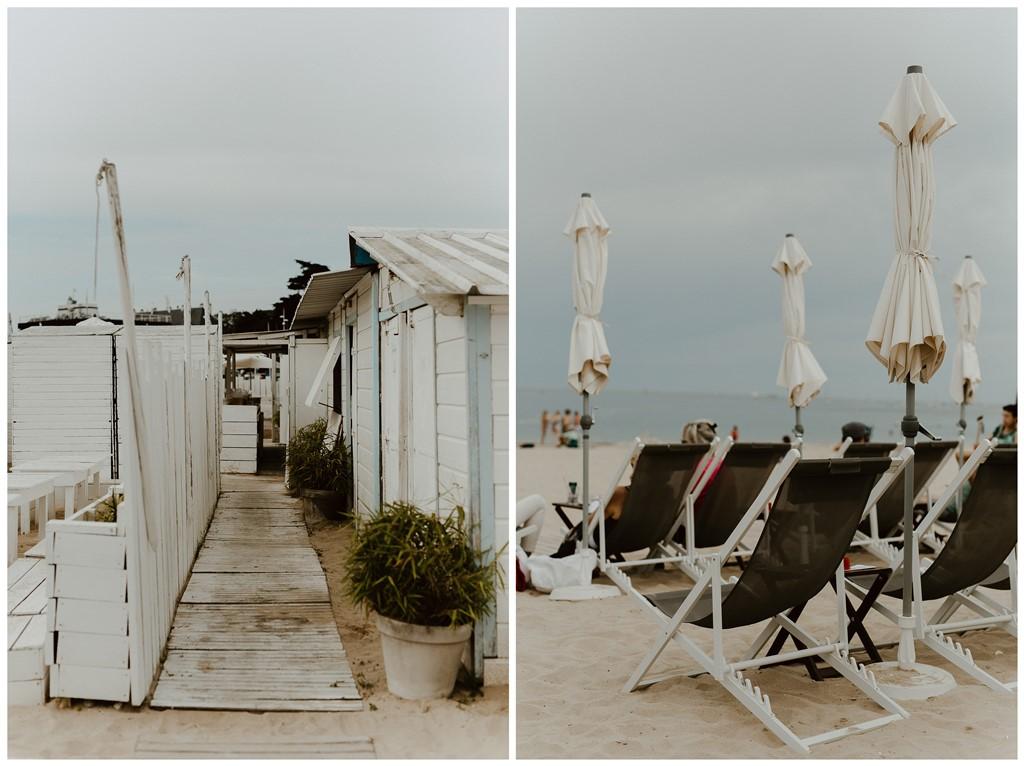 Décors mariage plage Les Bains du Nau