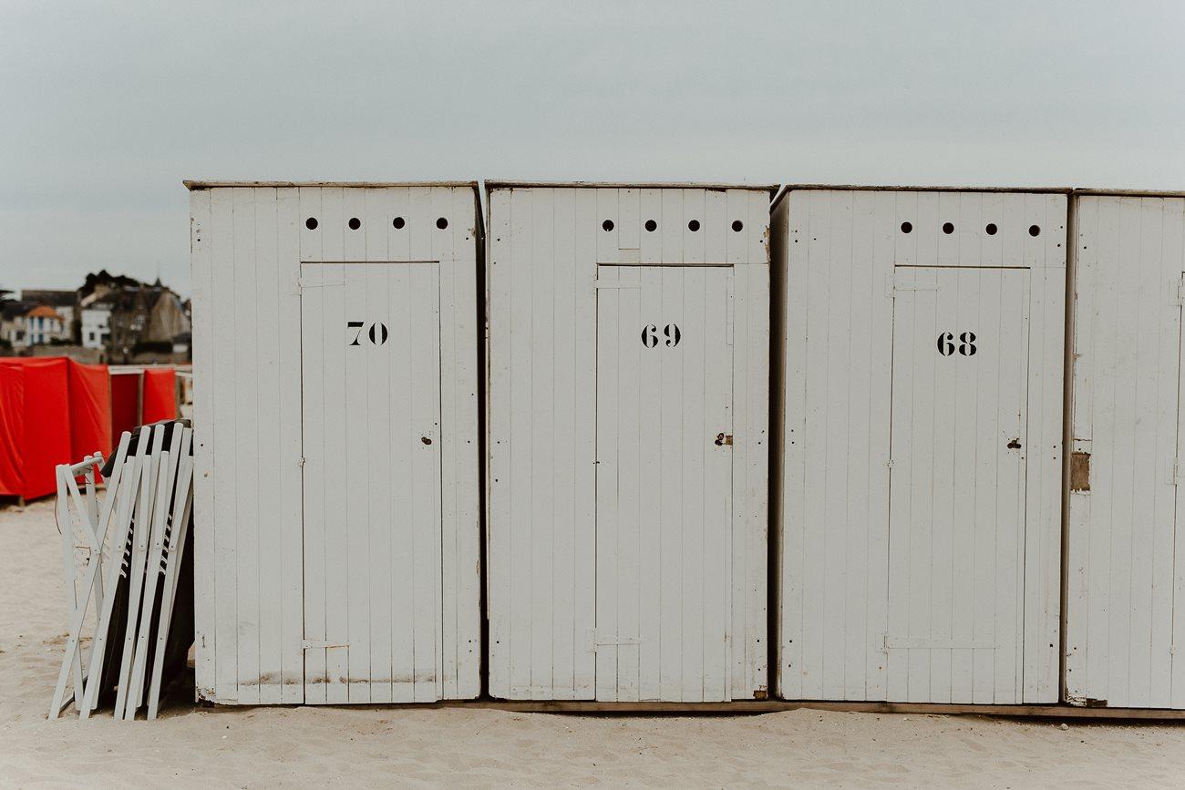 Cabanes de plage Pouliguen mariage