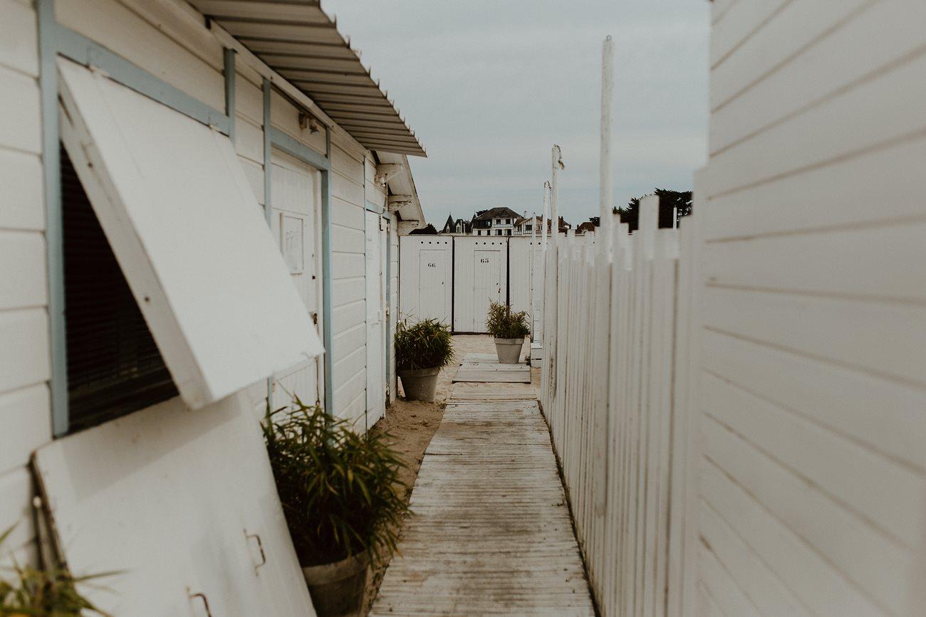 Cabane de plage restaurant les Bains du Nau Loire-Atlantique