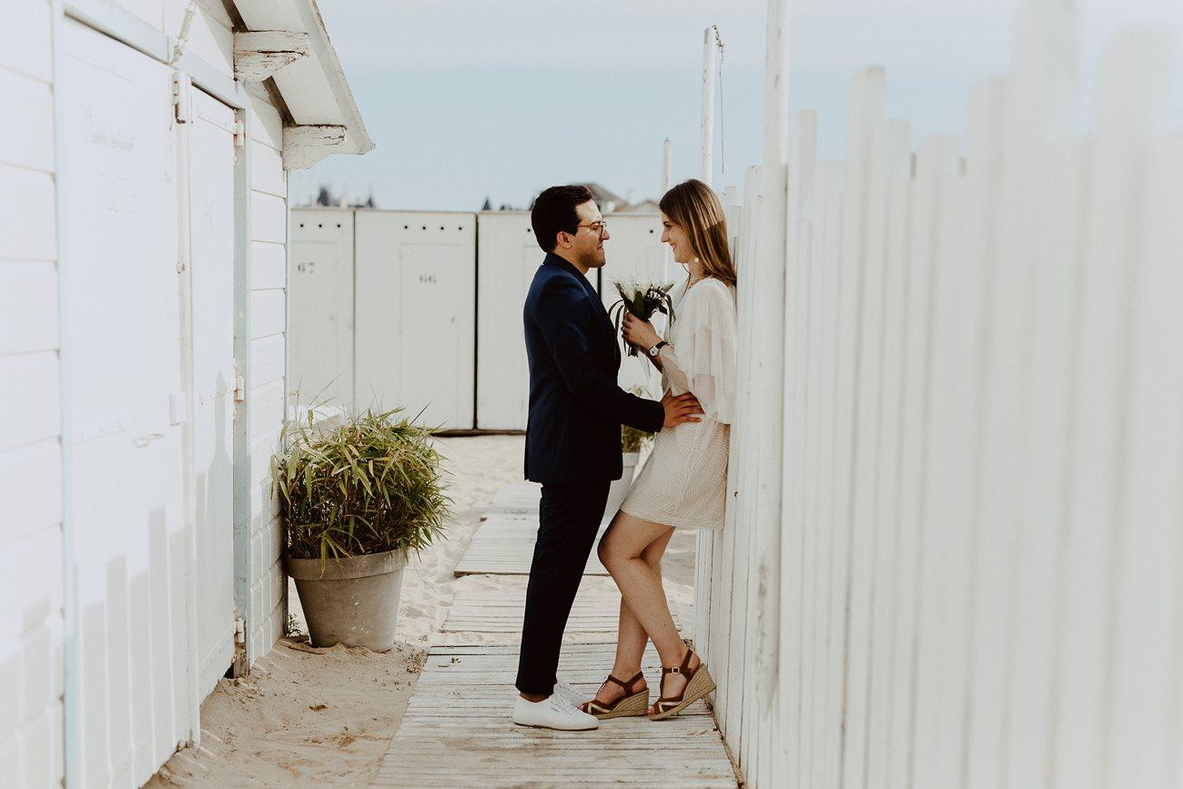 séance couple mariage plage pouliguen