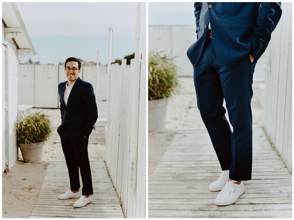 Mariage portrait mariée à la plage Les Bains du Nau