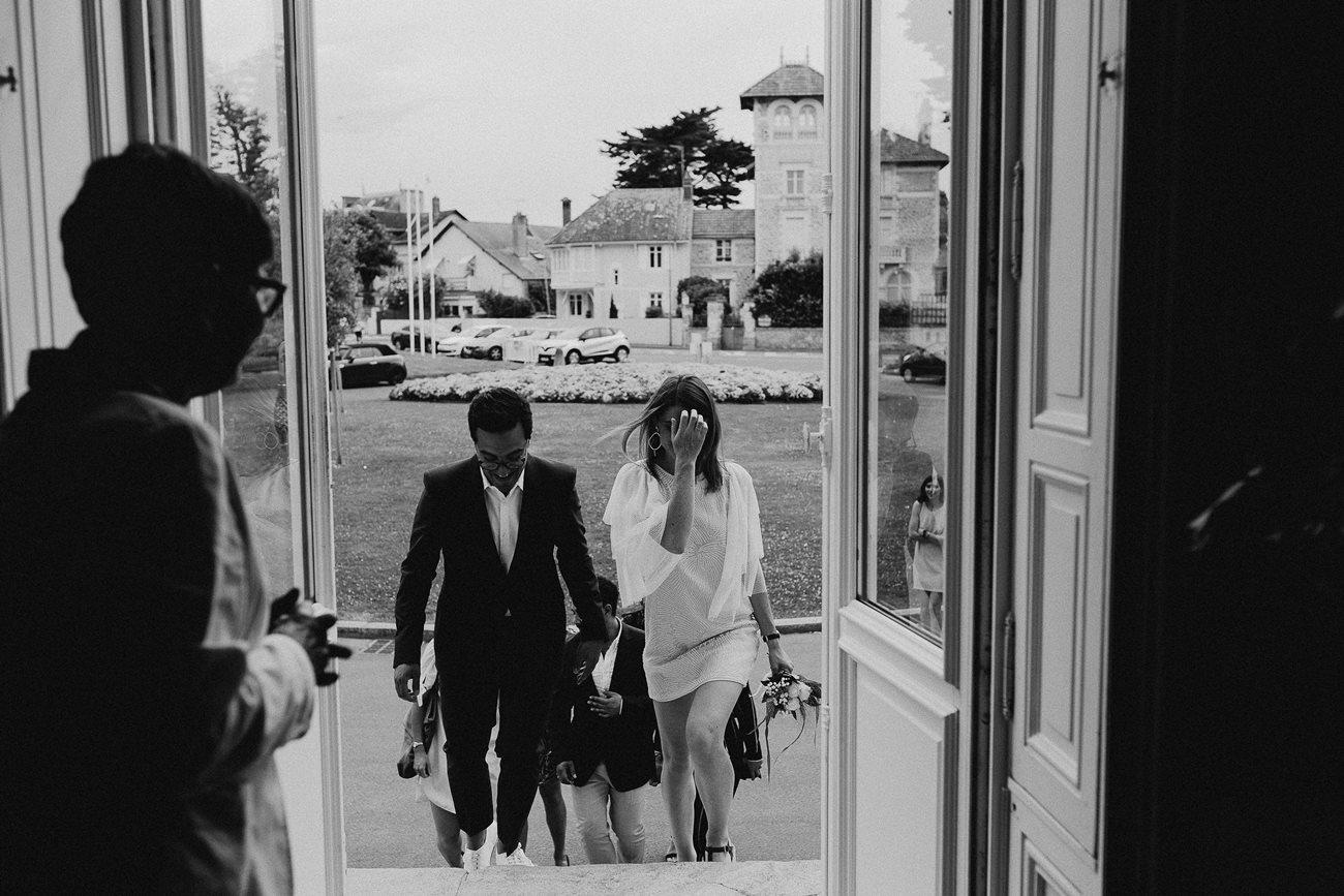 Entrée des mariés à la mairie du Pouliguen