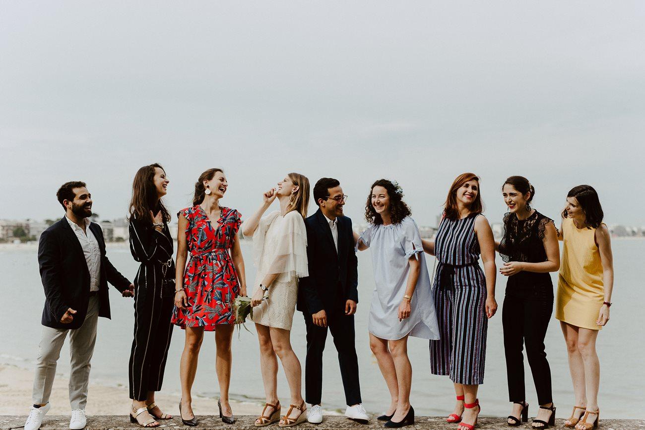Photo groupe témoins mariage Pouliguen