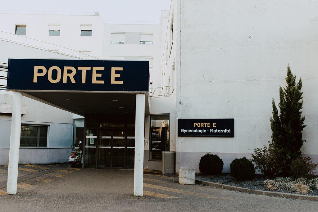 Reportage photo naissance porte gynécologie maternité polyclinique de l'Atlantique Nantes