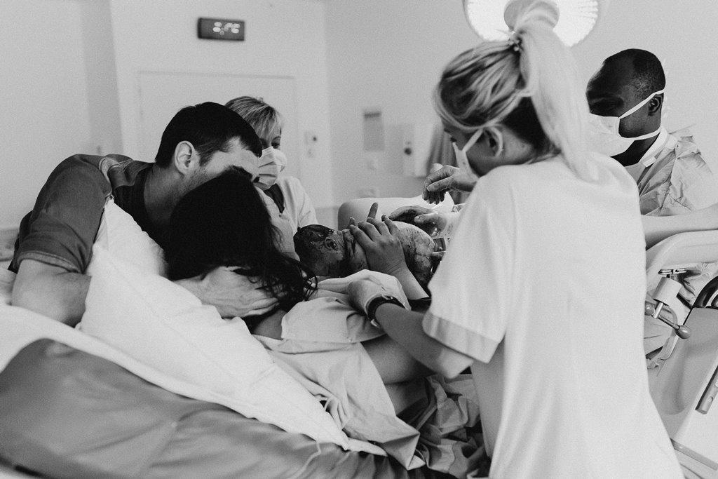 Reportage photo accouchement arrivée bébé