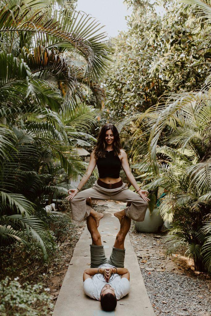 séance accro yoga siemp reap Blue Indigo Cambodge