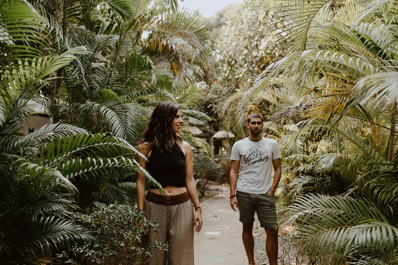 séance photo portrait couple palmiers