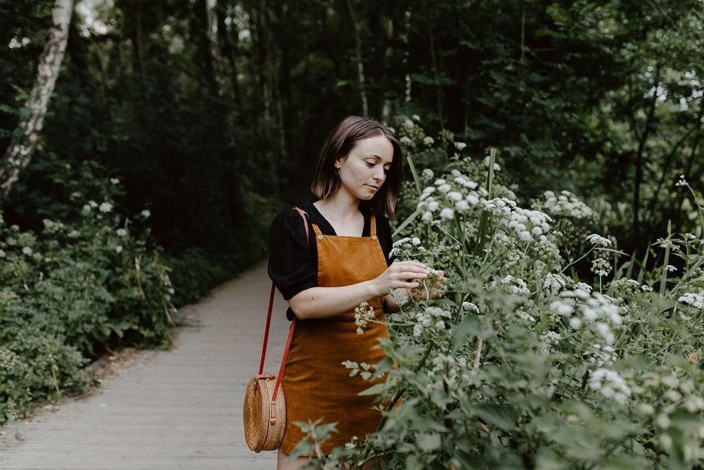 portrait femme promenade bord de l'Erdre Nantes