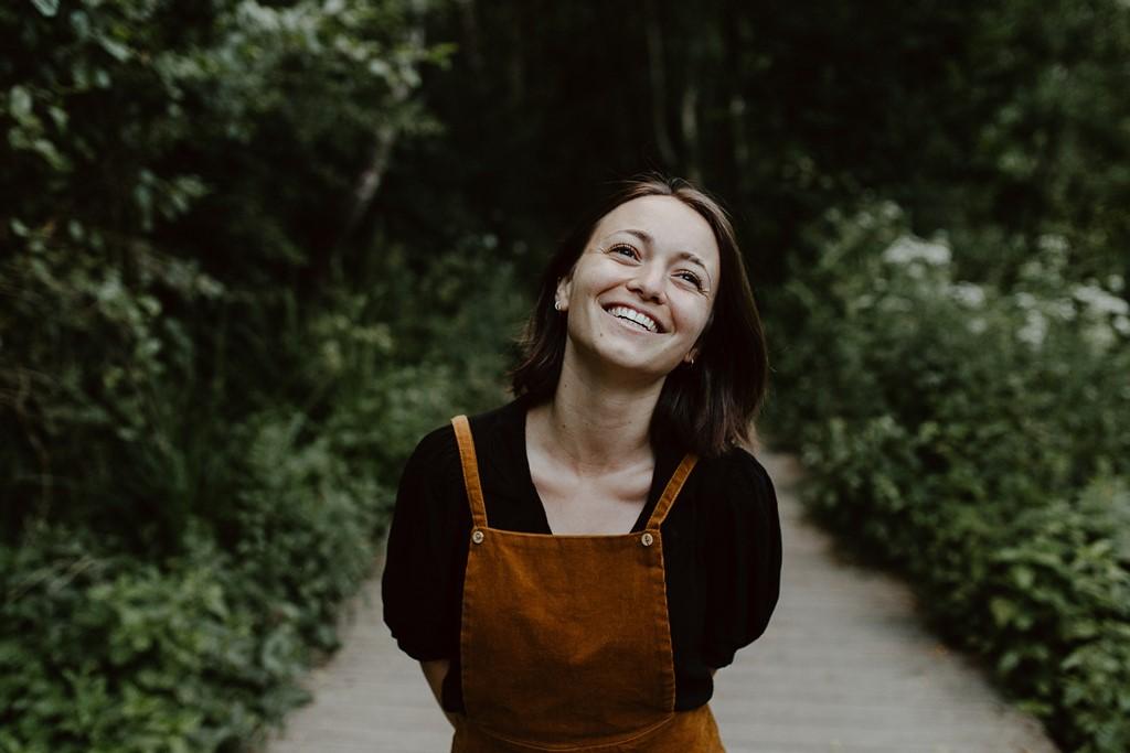 portrait femme sourire nature