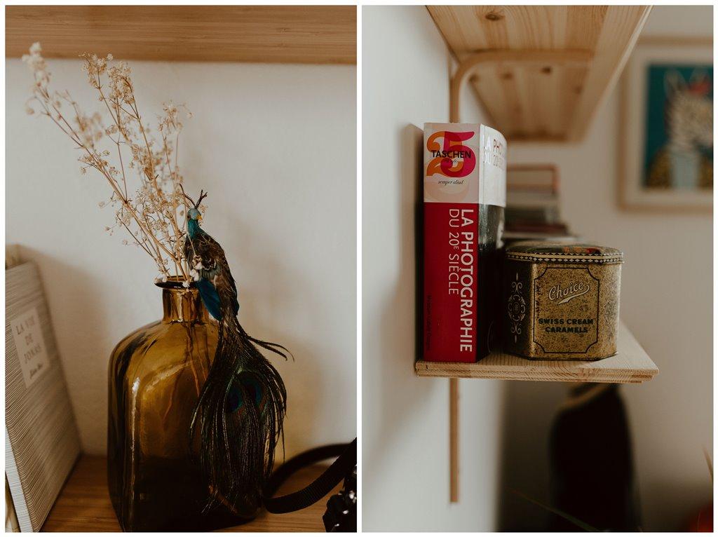 décoration appartement livres