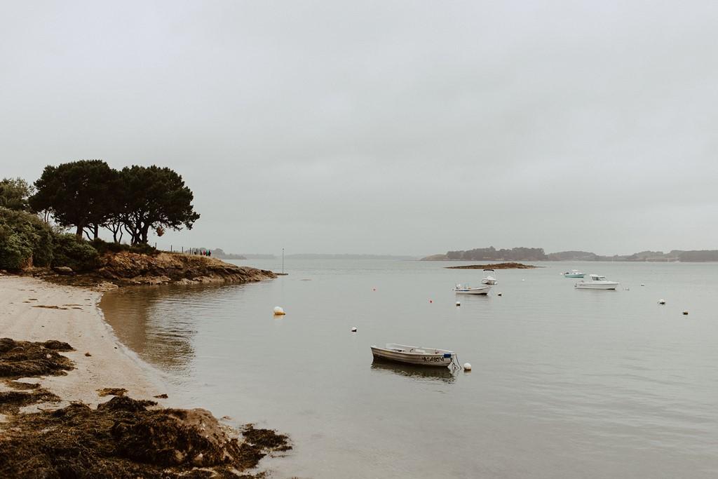 photo paysage plage Sarzeau Bretagne ciel gris