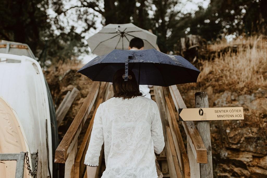 photo balade amoureux parapluie
