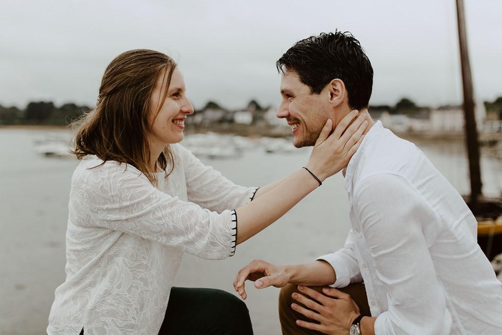 photo regards amoureux rires couple