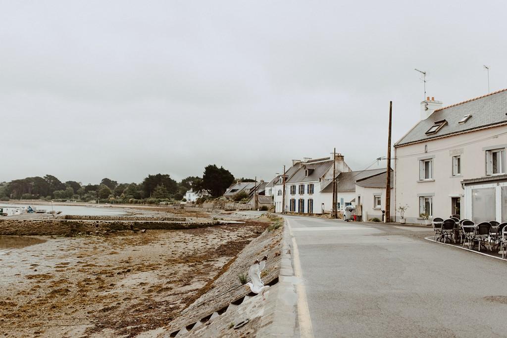 photo port Logeo Sarzeau mouette restaurants