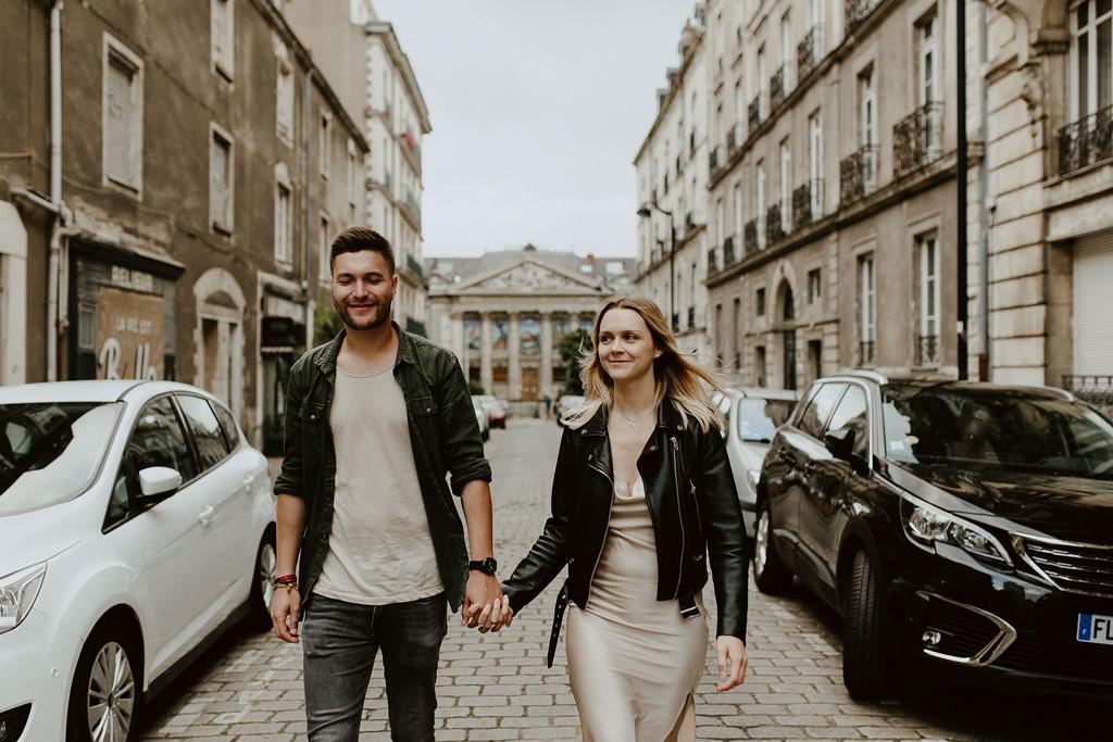 photo couple rues de Nantes lifestyle