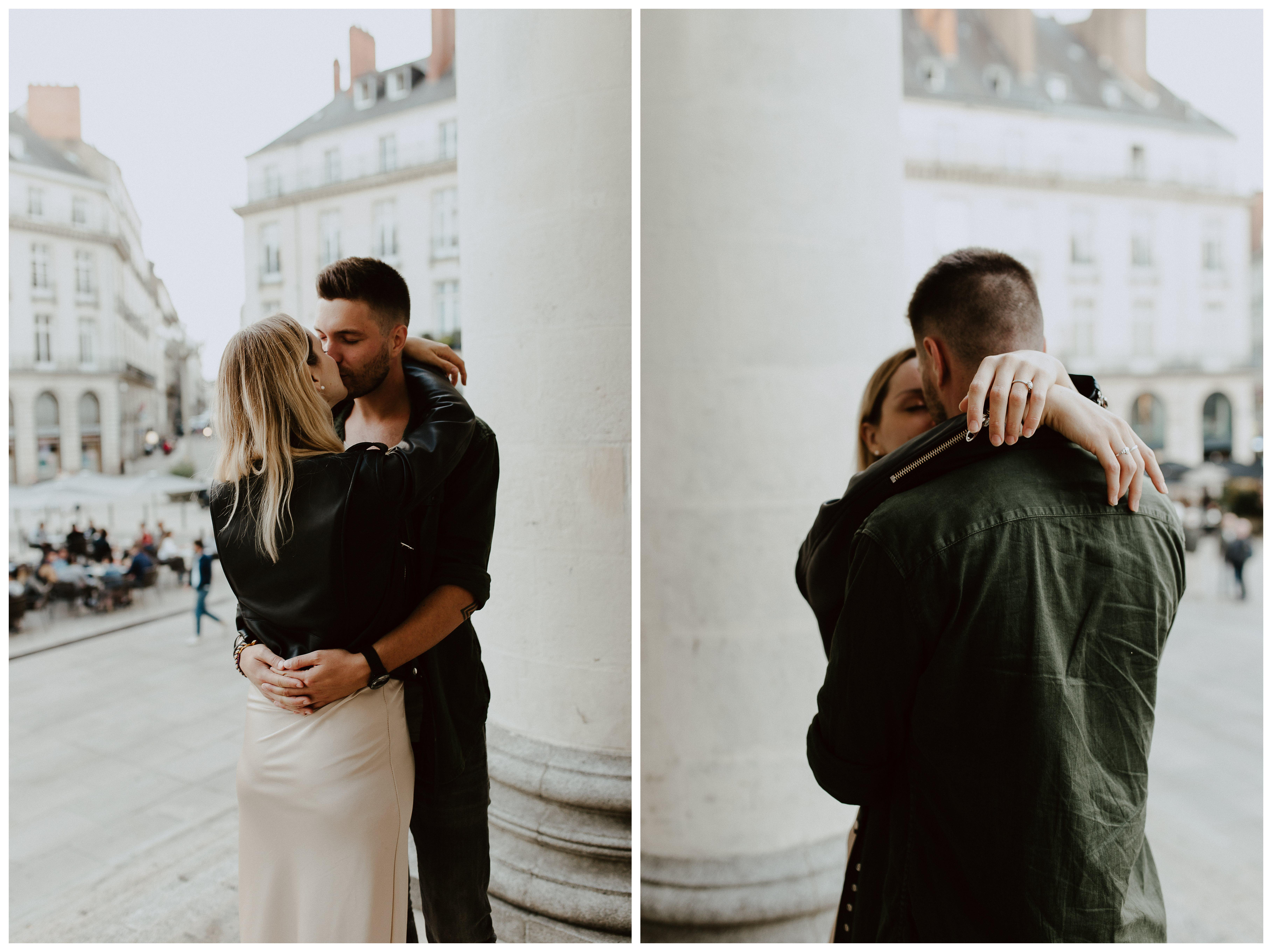 séance engagement couple ville Nantes